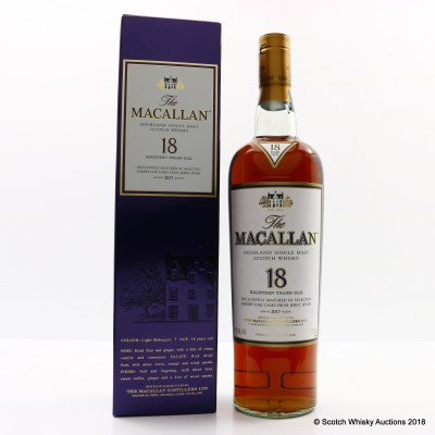Macallan 18 Year Old 2017 Release 75cl