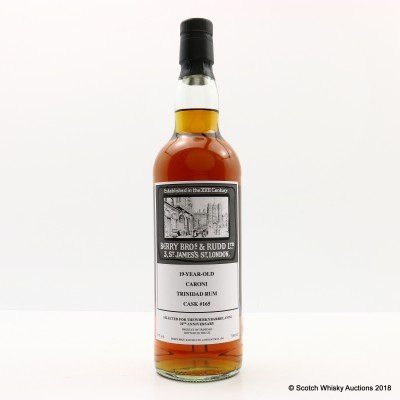 Caroni 19 Year Old Berry Bros & Rudd For the Whisky Barrel 10th Anniversary