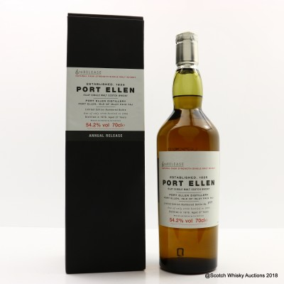 Port Ellen 6th Annual Release 1978 27 Year Old