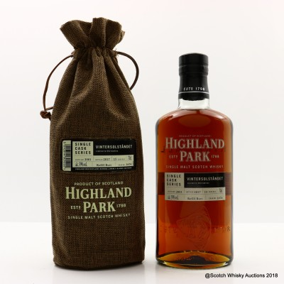 Highland Park 2001 15 Year Old Vintersolstandet Single Cask #1674
