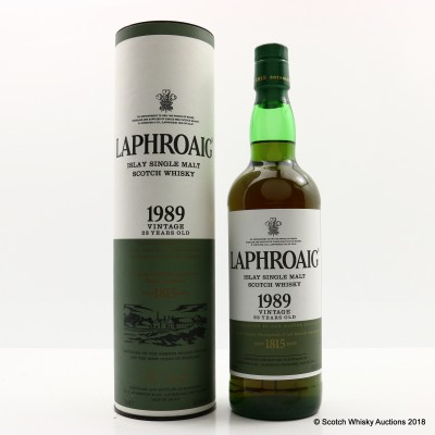 Laphroaig 1989 23 Year Old Vintage