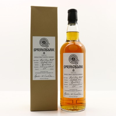 Springbank 2007 8 Year Old Society Bottling