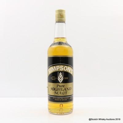 Simpson's Pure Highland Malt