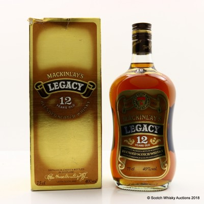 Mackinlay's Legacy 12 Year Old 75cl