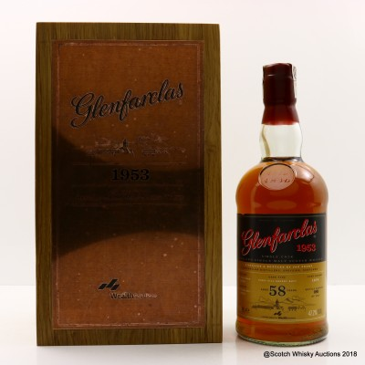 Glenfarclas 1953 58 Year Old With CD & Booklet