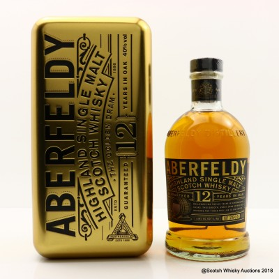 Aberfeldy 12 Year Old Copper Tin