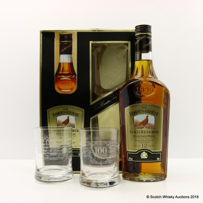 Famous Grouse 12 Year Old Gold Reserve Set With Glasses