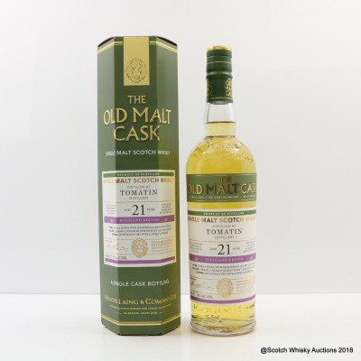 Tomatin 1995 21 Year Old Old Malt Cask