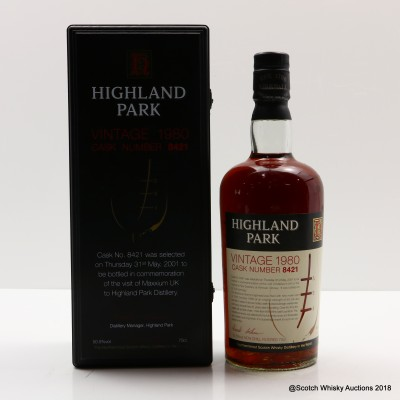 Highland Park Vintage 1980 Single Cask #8421