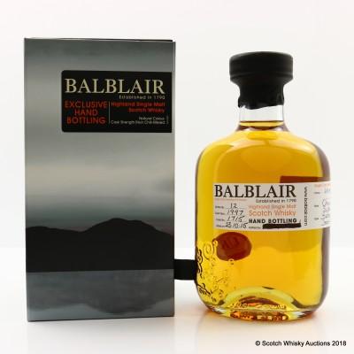 Balblair 1997 Hand Filled