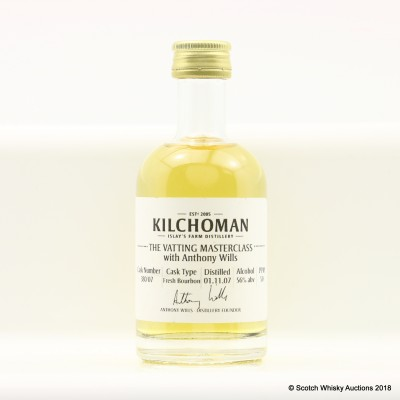 Kilchoman 2007 Anthony Wills Vatting Masterclass Cask #380 Mini 5cl