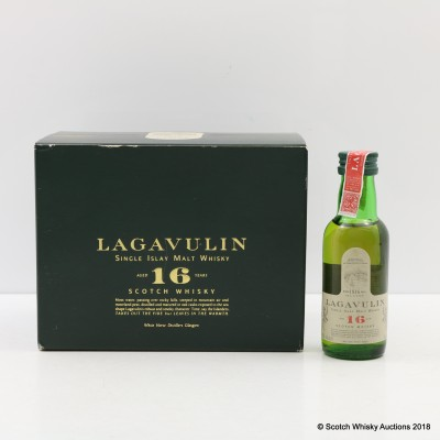 Lagavulin 16 Year Old White Horse Bottling Minis 12 x 5cl