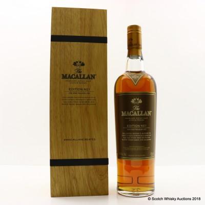 Macallan Edition No1 in Wooden Box