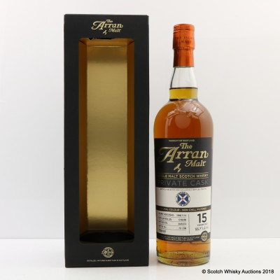 Arran 1998 15 Year Old Private Cask For Companions Of The Quaich