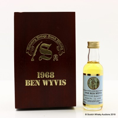 Ben Wyvis 1968 31 Year Old Signatory Mini 5cl