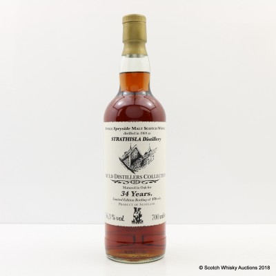 Strathisla 1969 34 Year Old Auld Distillers Collection