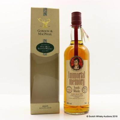 Immortal Memory Robert Burns Whisky Gordon & McPhail