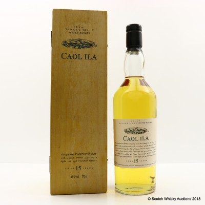 Flora & Fauna Caol Ila 15 Year Old In Wooden Box
