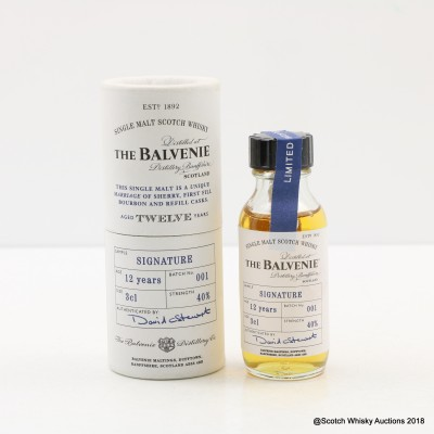 Balvenie 12 Year Old Signature Batch #1 Mini 3cl
