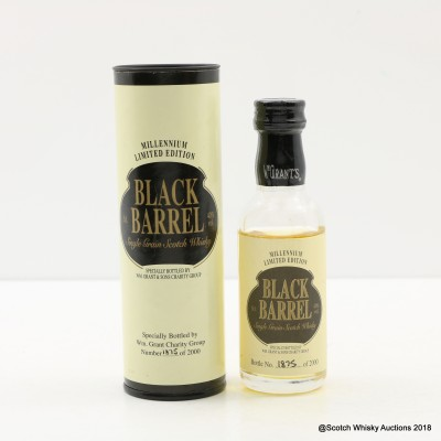 Black Barrel Single Grain Millennium Limited Edition Mini 5cl