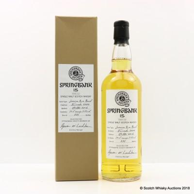 Springbank 2000 15 Year Old Society Bottling