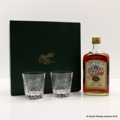 Glenfarclas 20 Year Old Apache Celebrating Twenty Years Of The Forties Field 1975-1995 With 2 Glasses