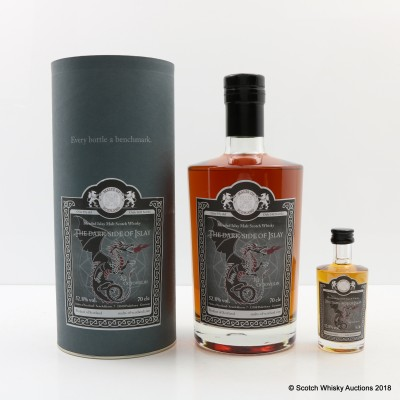 The Dark Side Of Islay Octovulin 19 Year Old Malts Of Scotland & Matching Mini 5cl