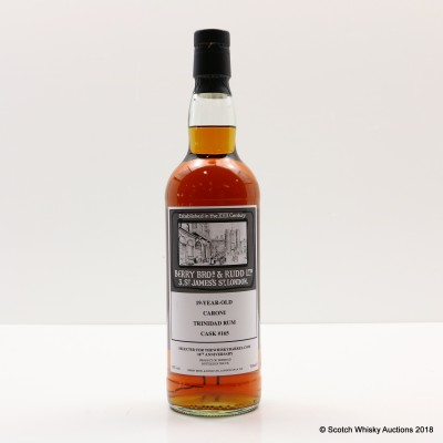Caroni 19 Year Old Single Cask Berry Bros & Rudd Selected for 10th Anniversary of Thewhiskybarrel.com
