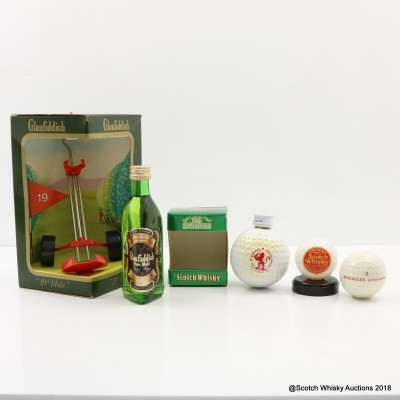 Glenfiddich Pure Malt Mini 5cl & St Andrew's Golf Ball Minis 3 x 5cl