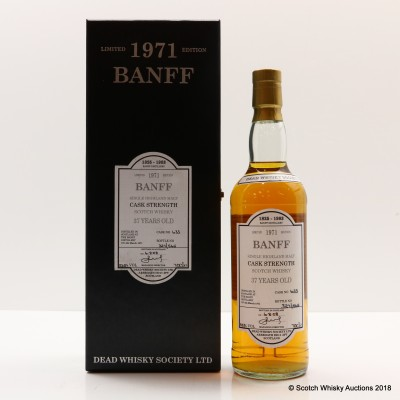 Banff 1971 27 Year Old Dead Whisky Society