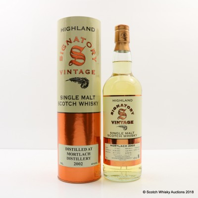 Mortlach 2002 13 Year Old Signatory