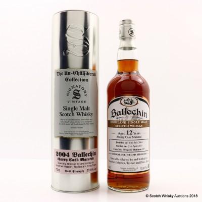Ballechin 2004 12 Year Old Signatory For Vinothek Massen, Tasttoe & Dims Dram