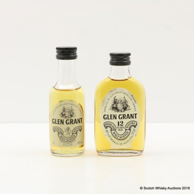 Glen Grant Minis 2 x 5cl Including 12 Year Old