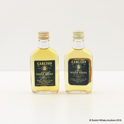 Carlton Finest Minis 2 x 4cl Including 5 Year Old