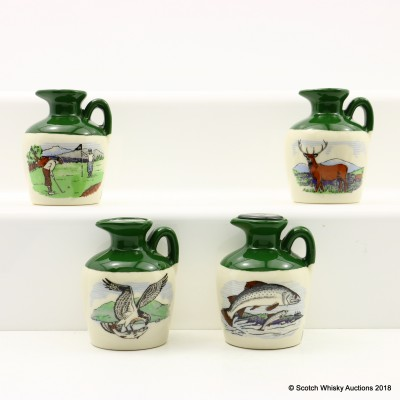 Glen Fiona Ceramic Decanter Minis 4 x 5cl including Osprey Mini 5cl