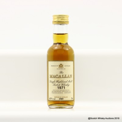 Macallan 1971 Mini 5cl