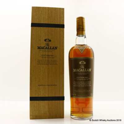 Macallan Edition No1 in Wooden Box