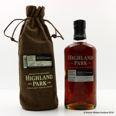 Highland Park 2006 11 Year Old Single Cask #3720 For Munich Airport