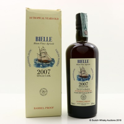 BIELLE 2007 RHUM VIEUX AGRICOLE SINGLE CASK #217 FOR 70TH ANNIVERSARY OF VELIER