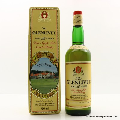 Glenlivet 12 Year Old Classic Golf Courses Muirfield 75cl