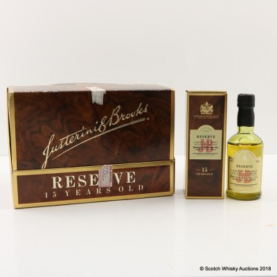 J&B 15 Year Old Reserve Minis 12 x 5cl