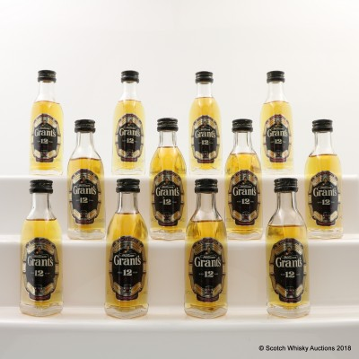 Grant's 12 Year Old Minis 12 x 5cl