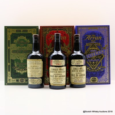 Arran Smugglers' Series - Volume One, Two & Three 3 x 70cl