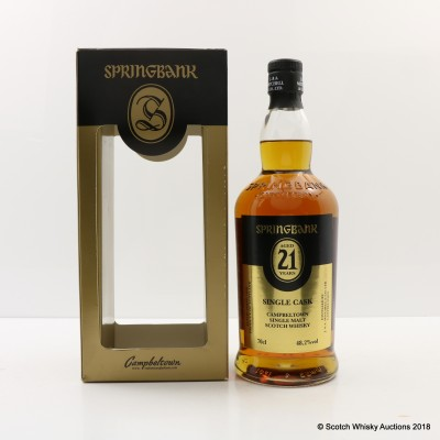 Springbank 21 Year Old Single Cask for Dugas Society