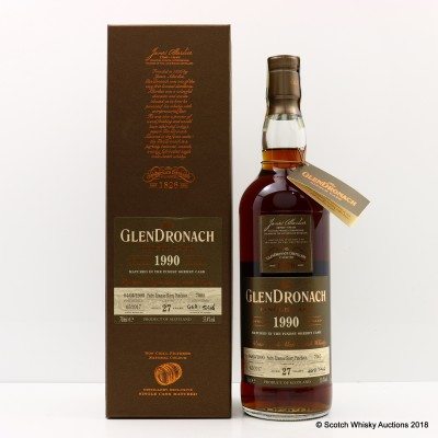 GlenDronach 1990 27 Year Old Single Cask #7005
