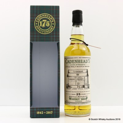 Glenburgie-Glenlivet 1992 25 Year Old For Cadenhead's Whisky Shop London