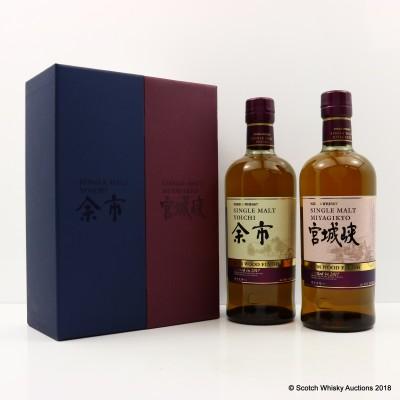 Nikka Miyagikyo & Yoichi Rum Wood Finish Set 2 x 70cl
