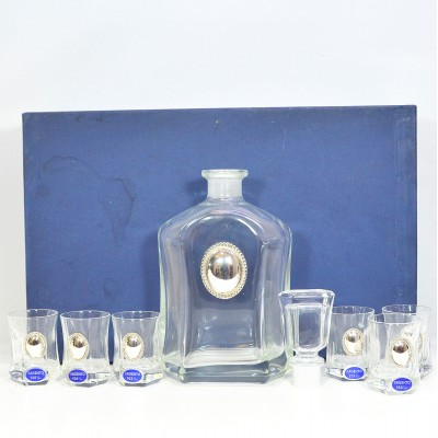 Argento Glass & Sterling Silver Decanter and Glasses Set