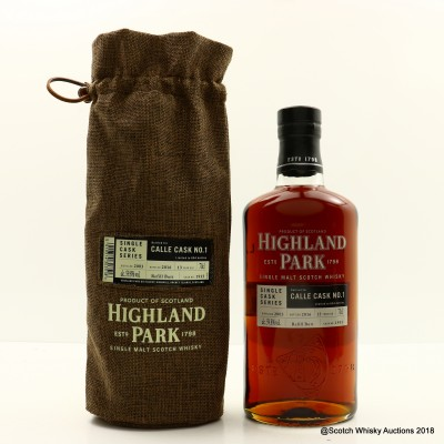 Highland Park 2003 13 Year Old Calle Cask No. 1 Single Cask #1935