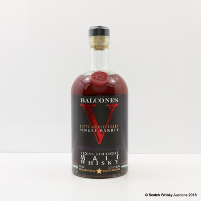 Balcones 5th Anniversary Single Barrel Texas Malt Whisky 75cl
